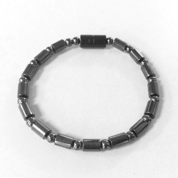 Magnetic Hematite Horse Anklet: Single Strand–Barrel
