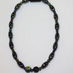 Magnetic Hematite Single Anklet - Dual Center Beads, Rainbow