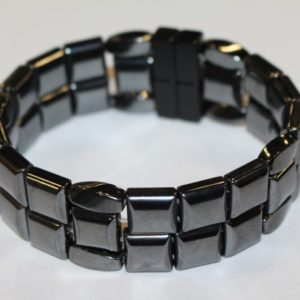 Magnetic Hematite 4 Way Bracelet - Black
