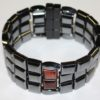 Magnetic Hematite 6 Way Bracelet - Red Tiger Eye Double Center Stone