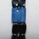 Magnetic Hematite Double Bracelet - Blue Center Stone