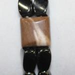 Magnetic Hematite Double Bracelet - Cappuccino Center Stone