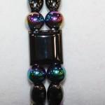 Magnetic Hematite Double Bracelet - Rainbow