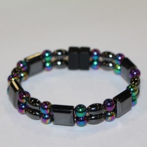 Magnetic Hematite Double Bracelet - RainbowMagnetic Hematite Double Bracelet - Rainbow