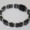 Magnetic Hematite Double Bracelet - Black and Silver